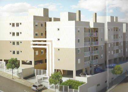 Apartamento novo com 02 dormitórios, cozinha, sala de estar, área de serviço, 01 banheiro, gás central, estacionamento para 01 carro e salão de festas. O apto possui 45,00m² privativos.