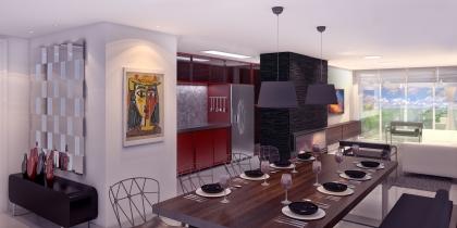 Apartamento com 02 dormitórios, sendo uma suíte, cozinha americana, churrasqueira, espera para lareira, ampla sacada aberta, espera para água quente, espera para ar condicionado tipo split( living, suíte e dormitórios).