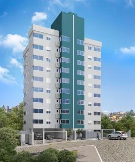 Excelente apartamento com 2 dormitórios, living integrado, cozinha, área de serviço e banheiro social. Esquadrias em alumínio. Ótima posição solar e excelente localização.  Prédio exclusivamente residencial.  Box de garagem coberto.