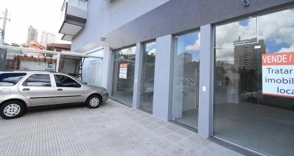 Sala Comercial Térrea com 74,34 metros quadrados de área privativa.