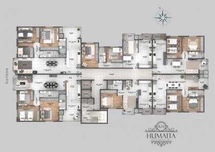 Apartamento número 206 do Residencial Humaitá, com área privada de 130,00m² e 147,56m² de área total (mais box 10,80m²) em construção, localizado na Rua Paraná, composto de dois dormitórios, uma  suite, sala de estar/jantar, sacadas integradas, cozinha, churrasqueira, área de serviços e garagem. Prédio com garagem ,churrasqueira individual, dois elevadores, salão de festas, piso laminado nos dormitórios e porcelanato nos demais ambientes, sistema de água quente, medidores de água e gás individuais, rebaixe em geso, próximo ao centro Contato pelo whatsapp   984 46 04 22