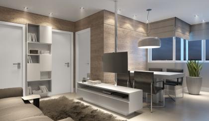 Dois quartos, sala,cozinha, área de serviço , banheiro , garagem , apto com churrasqueira
